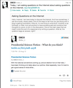 Meta! A Tweet embedded in a tweet as a blog post about a blog post.