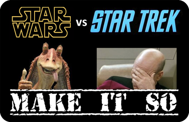 Found on http://www.thingsnerdslike.com/movies/star-wars-vs-star-trek-make-it-so/