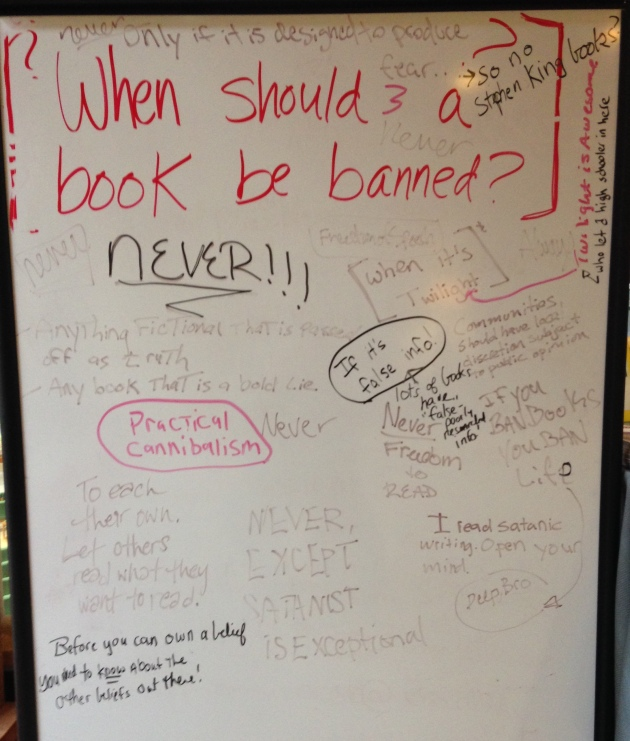 Banned Book Week 2014 - Student Responses