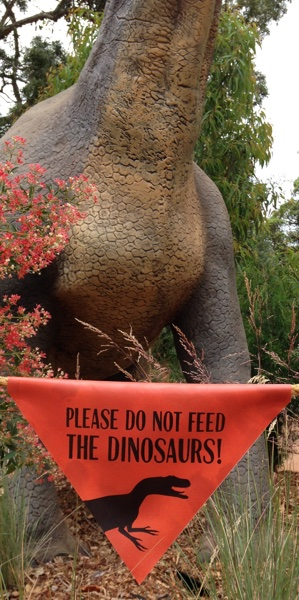 Please Do Not Feed the Dinosaurs!