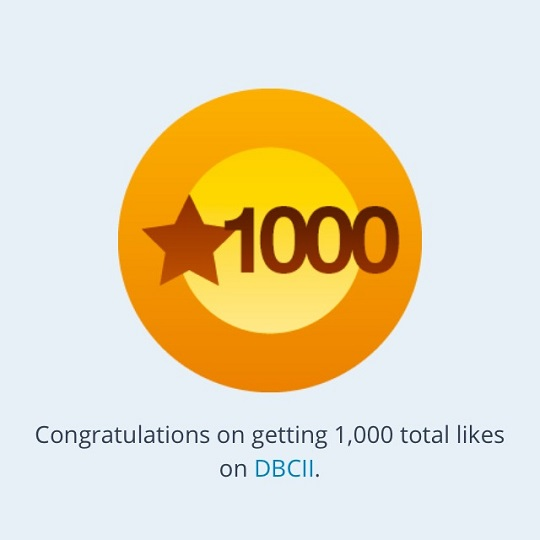 1000 Likes on DBCII