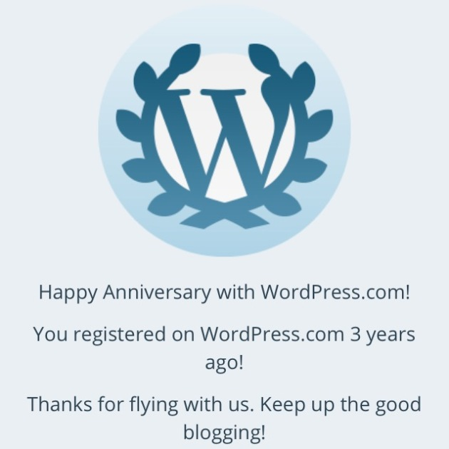 3-Year WordPress Anniversary!