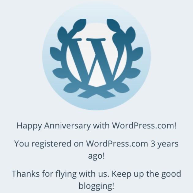 3-Year WordPress Anniversary!
